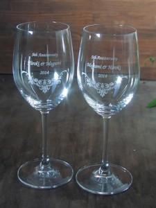 結婚5周年記念のペアグラス