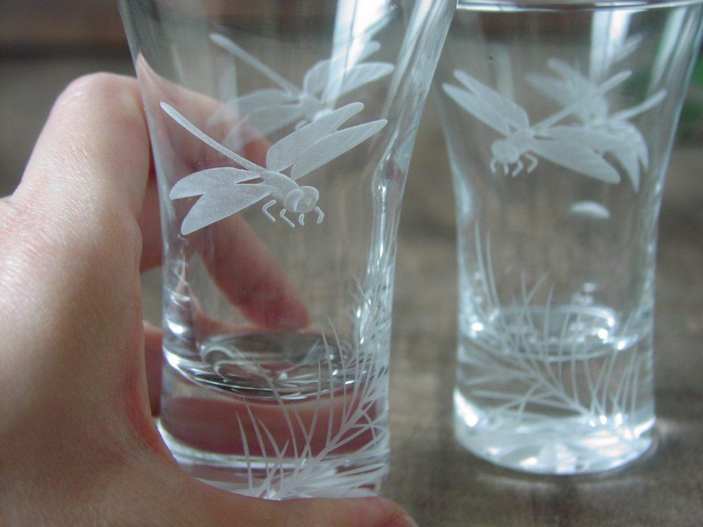 勤続40周年のお祝いに彫刻工芸グラス