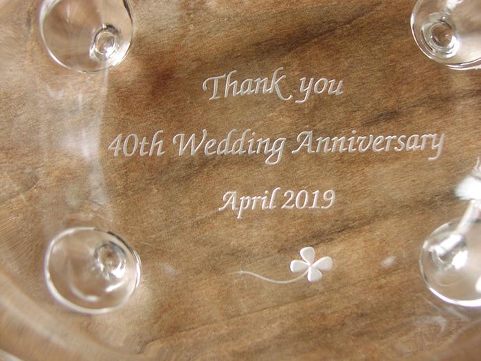 結婚40周年のお祝いのトレー