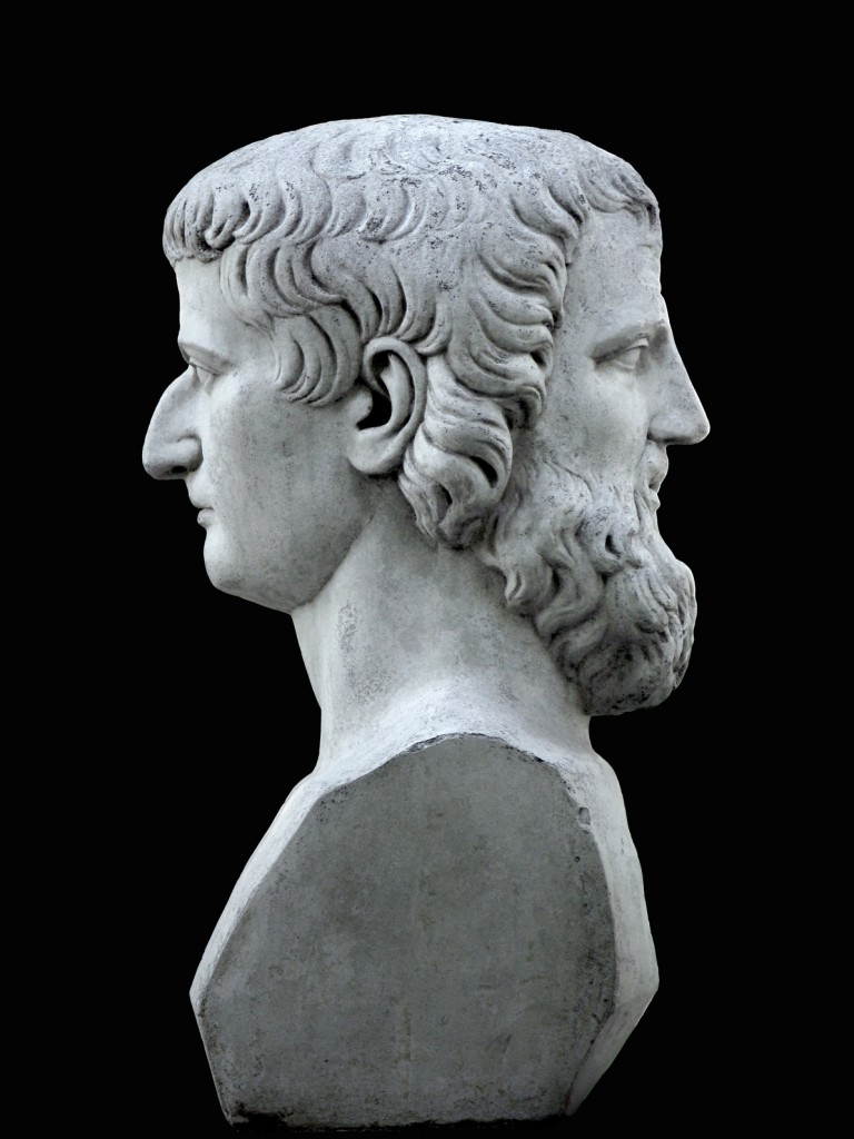 Janus sculpture