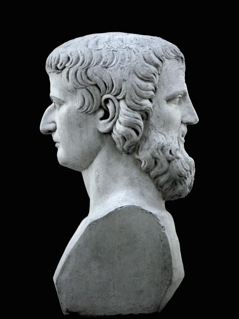 Janus sculpture