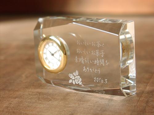 クリスタル時計 ロンバス