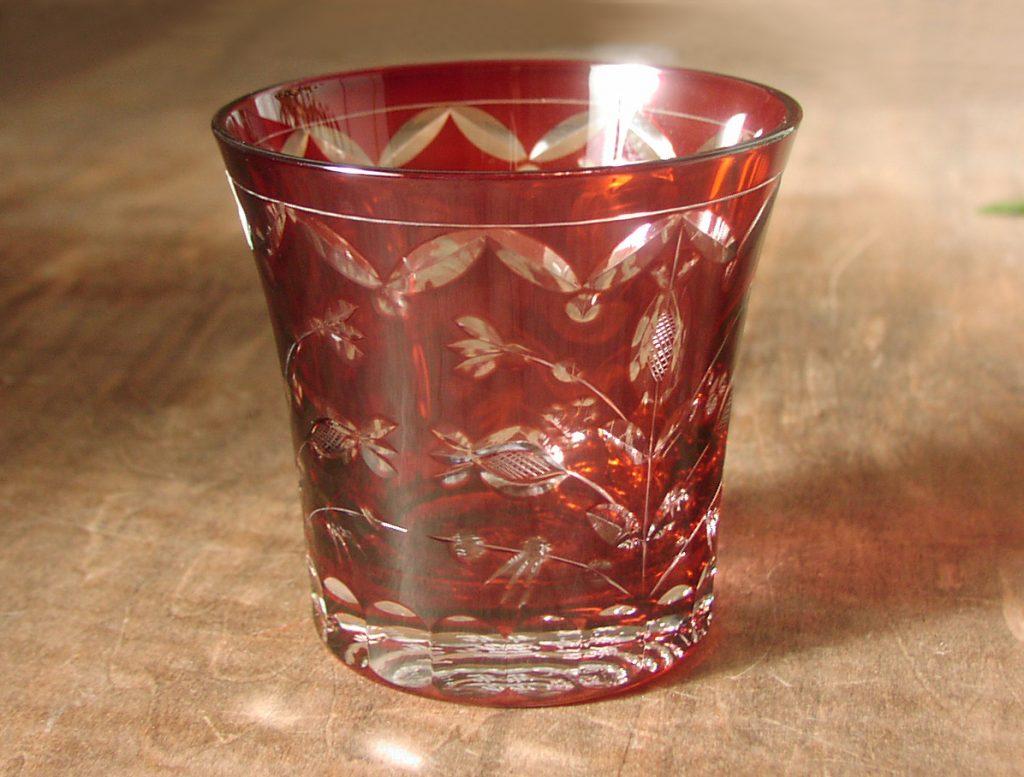 赤いガラス
