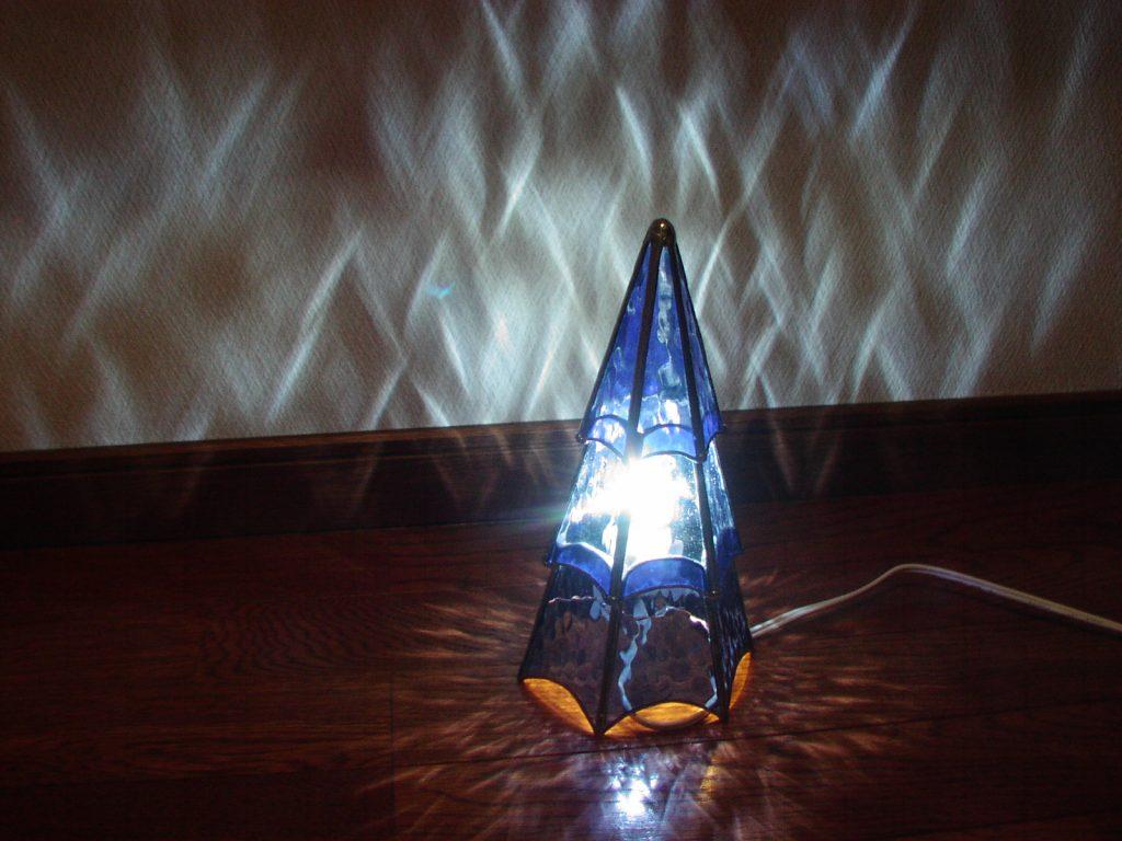 ステンドグラスツリー ランプ